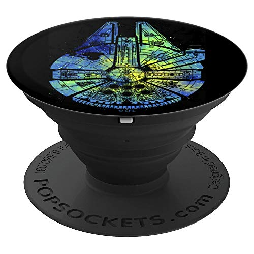 Star Wars Millennium Falcon Tie Dye Galaxy Fill - PopSockets Grip and Stand for Phones and Tablets