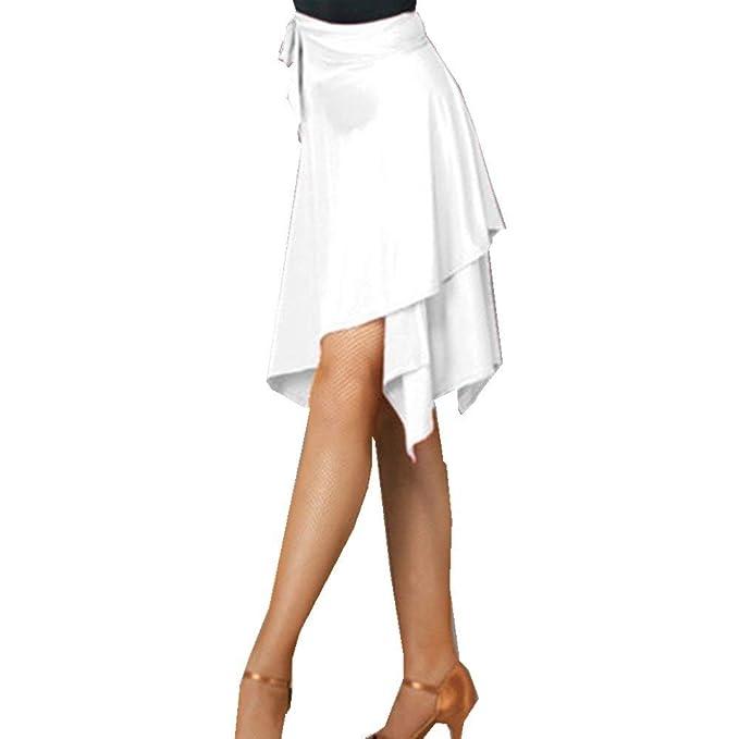 Faldas Mujeres Salón De Latina Baile Salsa Baile Tango Falda Ropa ...