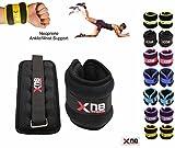 Xn8 Sports Neoprene Ankle Weights Wrist Weights Velcro Black Adjustable Resistant Leg Wrist Strap...