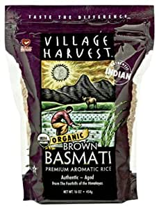 Village Harvest Organic Brown Indian Basmati, 16-Ounce (Pack of 6)