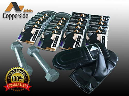 20 Pack Copper Elbow Compression Sleeve*Make Money Now!*(Copperside)Retail Bulk Wholesale for Kinesio, Physio Therapy, Chiropractors, Gyms, Free Display Case with Some Purchases. Full Support Provided by Copperside Athletics