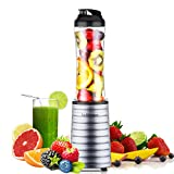 Smoothies Blender 300 Watt with 18 oz BPA Free Portable Travel Sports Bottle -Dishwasher Safe (1801 (300W))