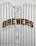 Unsigned Replica Milwaukee Brewers Jersey