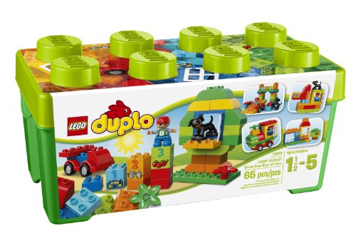 LEGO DUPLO Creative Play All-in-One-Box-of-Fun 10572, Preschool, Pre-Kindergarten Large Building Block Toys for (Thing 1 And Thing 2 Costume Ideas)