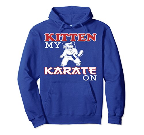 Unisex Funny Karate Hoodie Medium Royal Blue