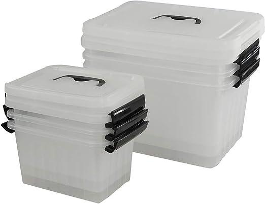Ponpong 3 Cajas de Almacenamiento de Plástico Transparente Grandes ...