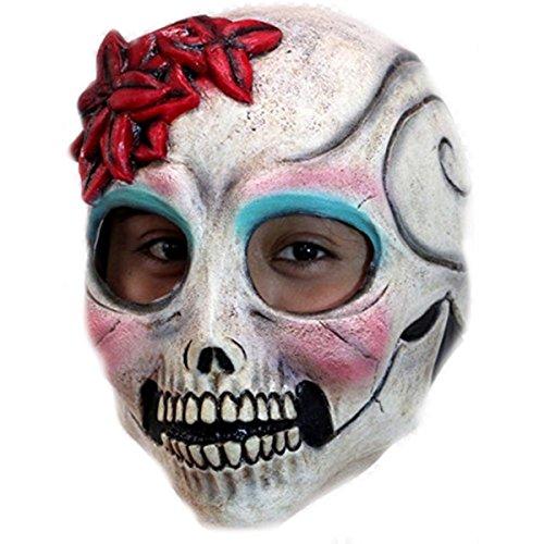 La Senorita El Dia De Los Muertos Sugar Skull Costume Mask