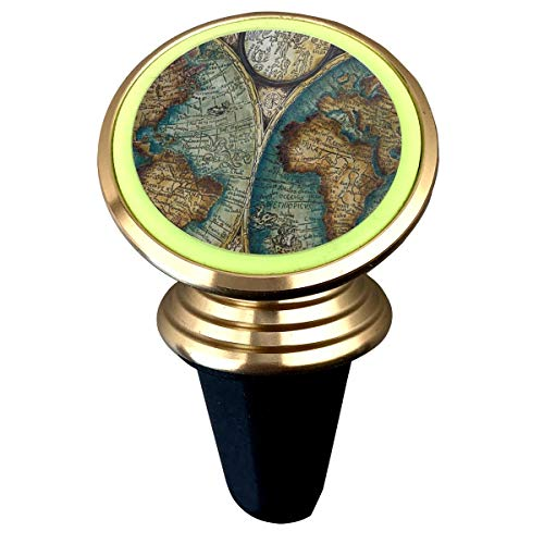 Rotation Universal Old Art World Map Custom Adjustable 360˚ Rotation Universal Car Mount Cell Phone Stand for Galaxy S9/S9 Plus/S8/S7 ()