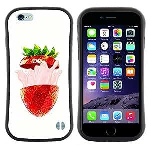"Pulsar iFace Series Tpu silicona Carcasa Funda Case para Apple iPhone 6 / 6S (4.7 INCH) , Strawberry Flavor Burst Verano Rojo"""