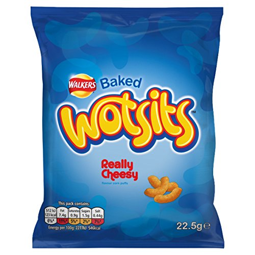 Walkers Wotsits Really Cheesy Snacks, 22.5 g (Pack of 32)