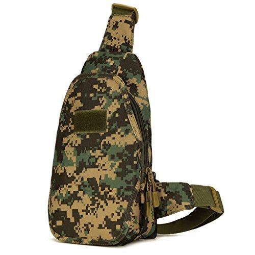 cinmaul Crossbody pecho bolsa caza senderismo ciclismo Heavy Duty Carrier táctica deporte supervivencia Militar), hombre, Desert Camouflage Jungle Camouflage
