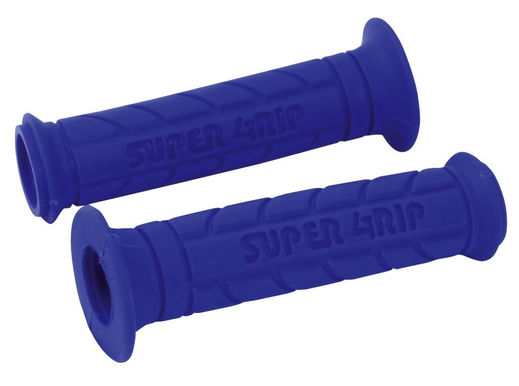 PAIR OF BLACK SUPERGRIPS 22MM LEFT 25MM RIGH 130MM LENGTH