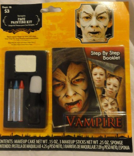 Vampire Face Painting Kit with Step By Step ()
