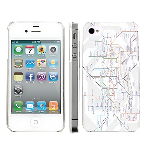 Mobiflare, Slim Clip-on Phone Case, for [iPhone 4 and 4S] - London Tube Map