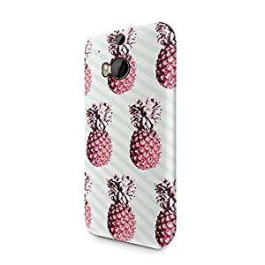 Trippy Lines Pineapples Ananas Aloha Hawaii Indie Pastel Print Pattern Tumblr Hard Plastic Htc One M8 Phone Case Cover