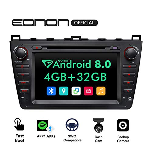 Car Radios,Eonon Android 8 0 Car Stereo for Mazda 6 with DVD Player, 4GB  RAM, Navigation, WiFi, Android Auto, Support Backup Camera, 8 Inch Touch