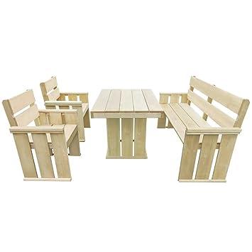 LD Muebles de Jardín de 4 piezas madera de pino madera Essgruppe ...