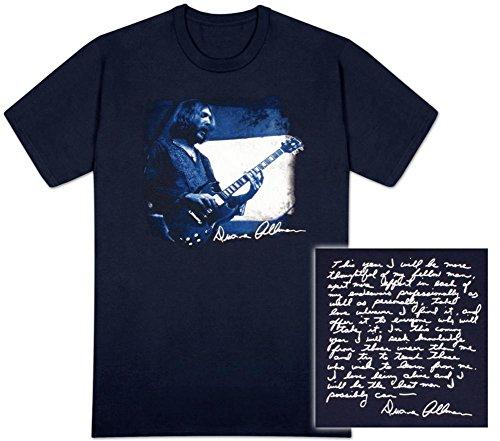 Duane Allman - Duane Quote T-Shirt Size S Allman Brothers Band Tour