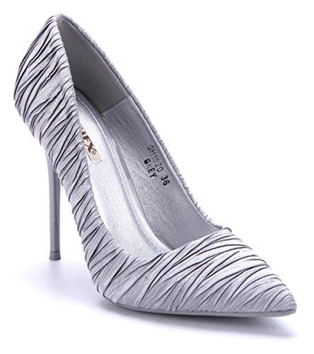 7dee26934b73 Schuhtempel24 Damen Schuhe Klassische Pumps Stiletto 11 cm High Heels Grau