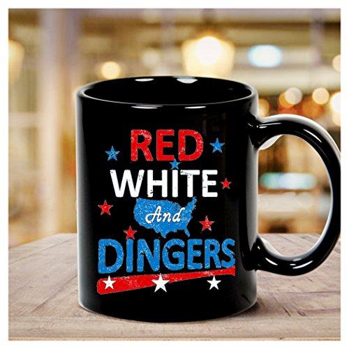 Red White and Dingers Baseball Softball Digital Art