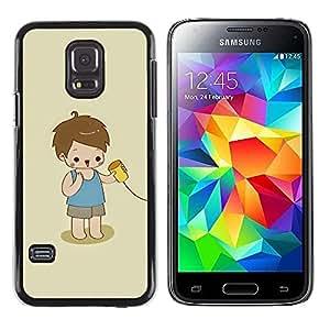 Be Good Phone Accessory // Dura Cáscara cubierta Protectora Caso Carcasa Funda de Protección para Samsung Galaxy S5 Mini, SM-G800, NOT S5 REGULAR! // Kid Playing Cute Kid Baby Mothe
