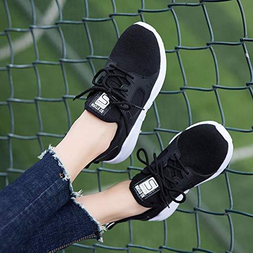 Damen Student OYSOHE Schuhe Schwarz Wanderschuhe Atmungsaktiv Mesh Sportschuhe Outdoor dx7Bxg