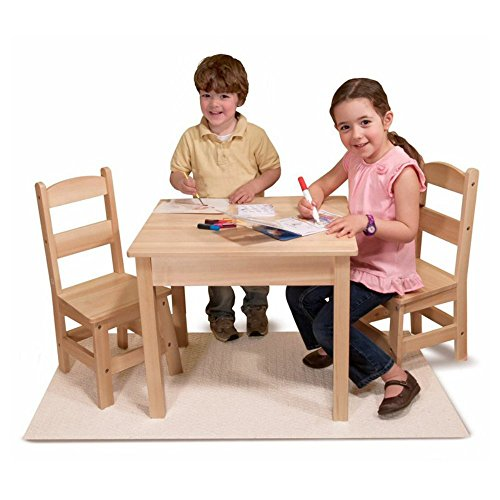 Melissa and Doug Wooden Table and Chair Set by Melissa & Doug
