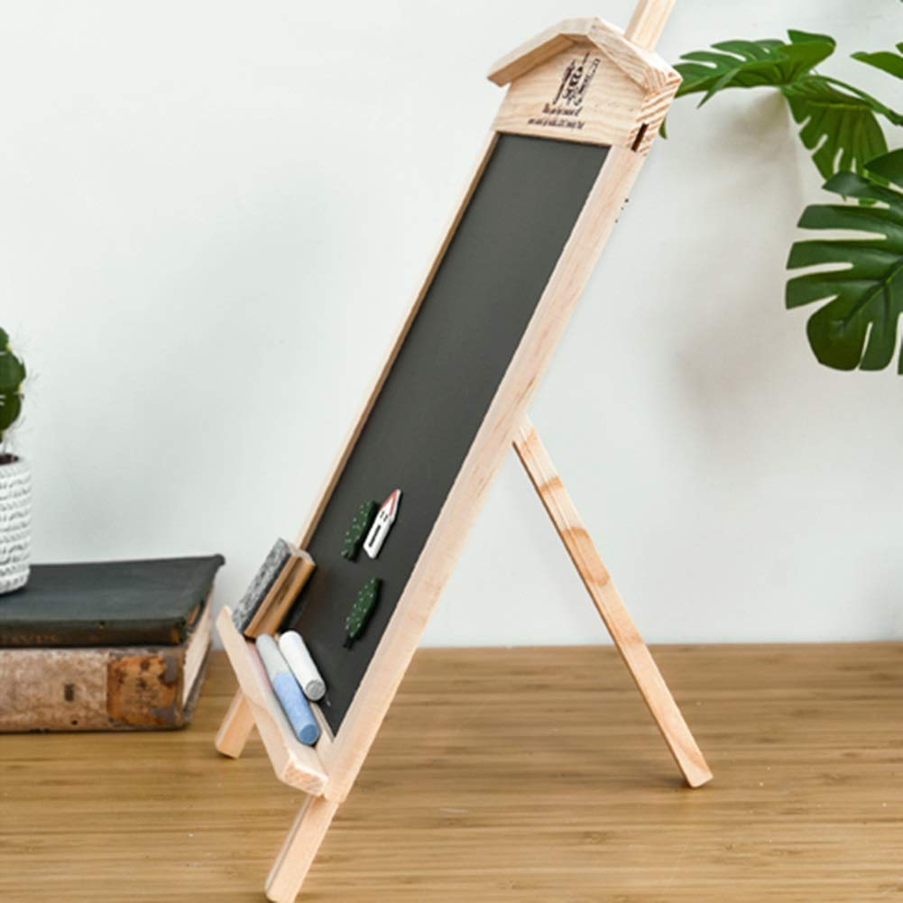 LIANGJUN Message Board Chalkboards Signs Solid Wood Hanging Bracket Coffee Shop Bar Sketchpad (Color : A, Size : 27x35cm) by LIANGJUN-lyj (Image #5)