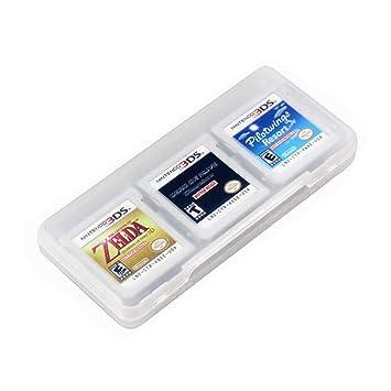 Blanco 6 en 1 Tarjetas de Juego Caso Translúcido Viajar Protector Soporte de Almacenamiento Organizador para Cartuchos de Nintendo 3DS y DS por ...