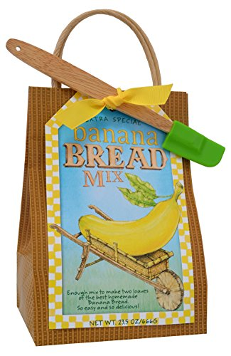 Bread French Banana (Pelican Bay All Natural Extra Special Two Loaf Banana Bread Mix and Spatula 2 Piece Set)
