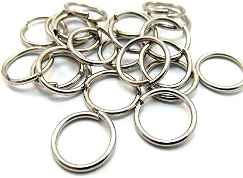200 Antique Silver Tone Jump Rings 8mm