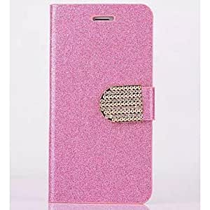 SOL Shimmering Powder PU Leather Full Body Case with Stand for iPhone 6(Assorted Color) , Golden