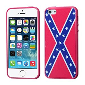 TPU Red North South Flag Hard Cover Gel Skin Case For Apple Iphone 5 / 5s (Accessorys4Less)