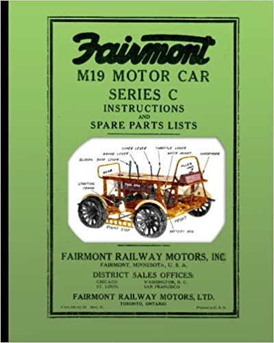Fairmont M19 Motor Car Series C Instructions And Spare Parts Lists