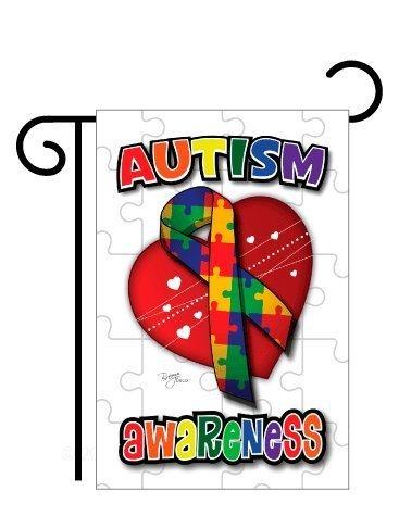 """Autism Sublimation Garden Flag 13"""" X 18.5"""""""