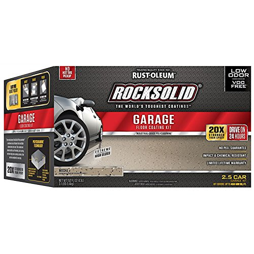 - Rust-Oleum 293517 Rocksolid Garage Floor Coating Kit, Mocha