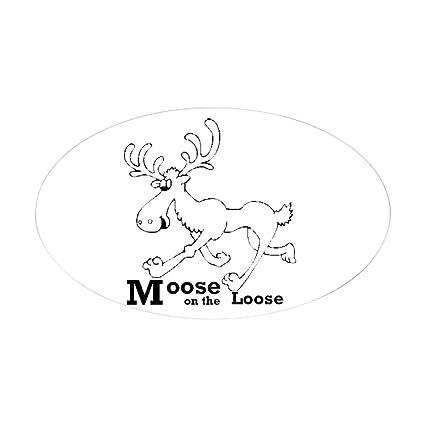 SELECT SIZE Moose Oval Car Vinyl Sticker