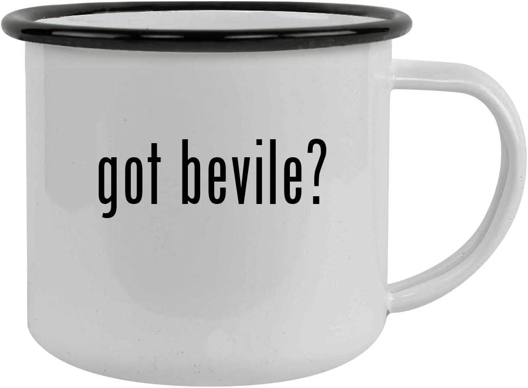 got bevile? - Sturdy 12oz Stainless Steel Camping Mug, Black