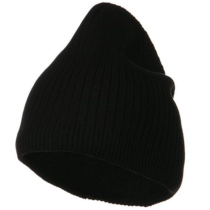 Big Stripe Ribbed Cotton Beanie - Black (for Big Head) at Amazon ... 924693e6584