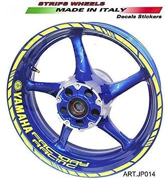 Adhesivos para las ruedas moto Yamaha Factory Racing 17 pulgadas: Amazon.es: Coche y moto