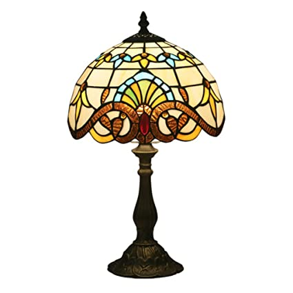 BYDXZ Tiffany Lámpara de mesa Diseño vintage Sala de estar ...