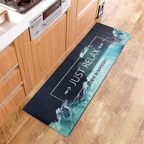 Approaching Kitchen Rug, Non-Slip Kitchen Mat Waterproof Anti-Oil Dining  Hallway Runner Rugs
