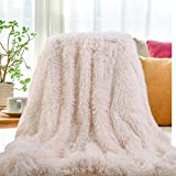 """faux fur throw  2019 USA Luxurious Plush Faux Fur Throws Bed Blankets, Extra Soft Cozy Warm, Fluffy Comfortable Throws Blankets for Bed Couch Kids (50"""" x 62""""),White"""