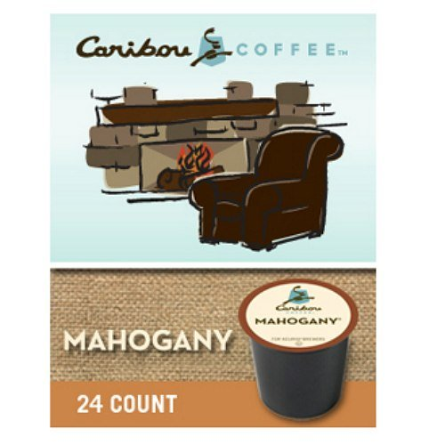 Caribou Mahogany Coffee, K-cups 24 ea