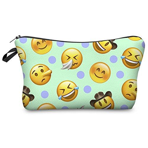 Fringoo® Mädchen Jungen Federtasche, Einhorn-Design, Make-up-Tasche L Avocado Dots Fresh Emoji Mint