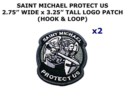 Costume Deadpool Diy (2 PCS Saint Michael Protect Us Tactical Theme DIY Iron / Sew-on Decorative Applique)