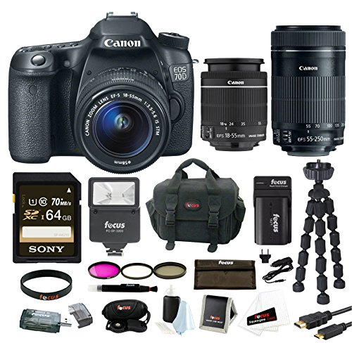 Canon EOS 70D SLR CMOS 20.2MP Digital Camera with EFS 18-55m