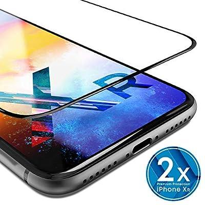 UTECTION 2X Pellicola in Vetro Temperato per iPhone XR (6.1″) – con Strumento per Applicare – Ultra Clear AntiGraffio & Anti Urto – Formato preciso – Pellicola Protettiva 9H Trasparente