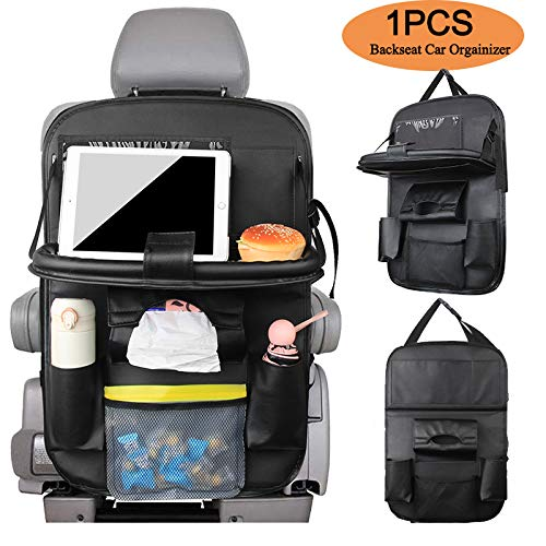 New YIBEICO Car Backseat Organizer with Foldable Table Tray, Kick Mats Seat Back Protectors, Luxury ...
