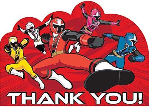 Amazon.com: amscan Power Rangers Ninja Steel Thank You ...